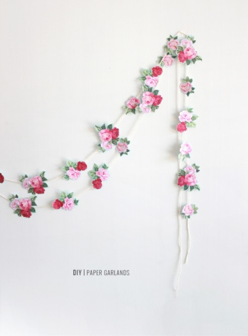 The Easiest DIY Paper Wedding Garland