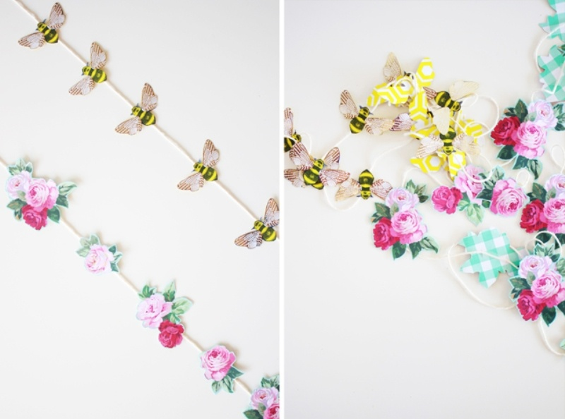 Picture Of the easiest diy wedding paper garland  2