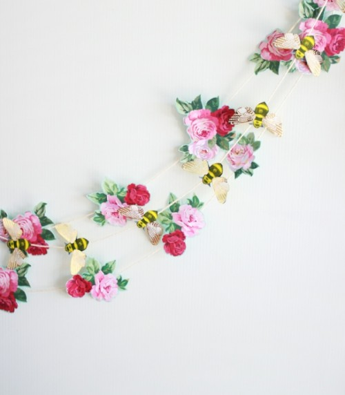 The Easiest DIY Paper Wedding Garland