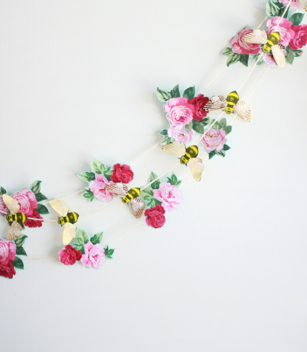 Picture Of the easiest diy wedding paper garland  3