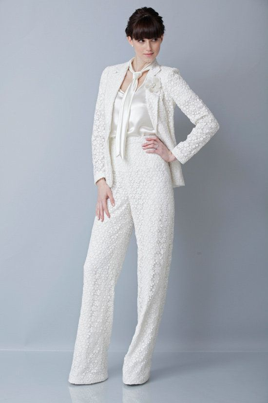 The Hottest 2014 Trend Bridal Pantsuits