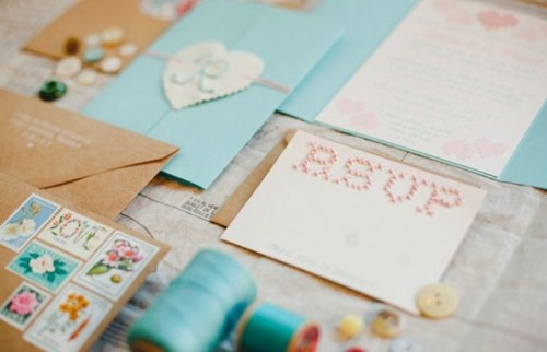 The Hottest 2015 Wedding Trend: 16 Romantic Embroidered Wedding Invitations