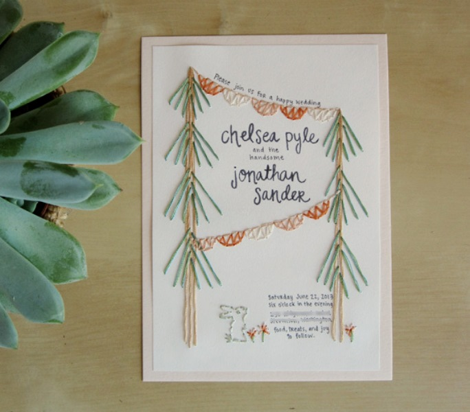Picture Of the hottest 2015 wedding trend 16 romantic embroidered wedding invitations  14