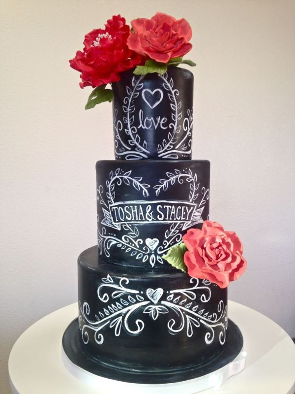 Picture Of the hottest 2015 wedding trend 30 chalkboard wedding cakes  1