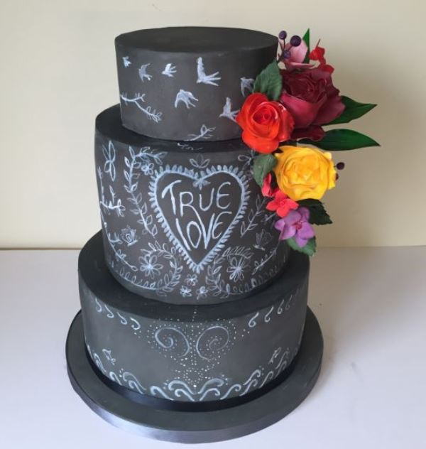 Picture Of the hottest 2015 wedding trend 30 chalkboard wedding cakes  11