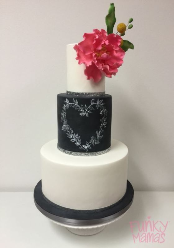 Picture Of the hottest 2015 wedding trend 30 chalkboard wedding cakes  14