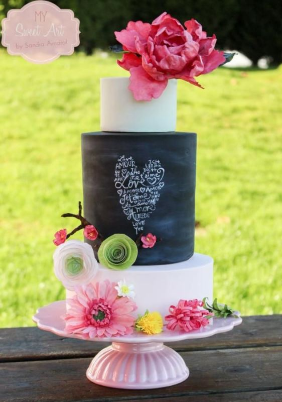 Picture Of the hottest 2015 wedding trend 30 chalkboard wedding cakes  15