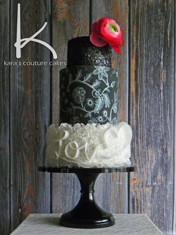 Picture Of the hottest 2015 wedding trend 30 chalkboard wedding cakes  17