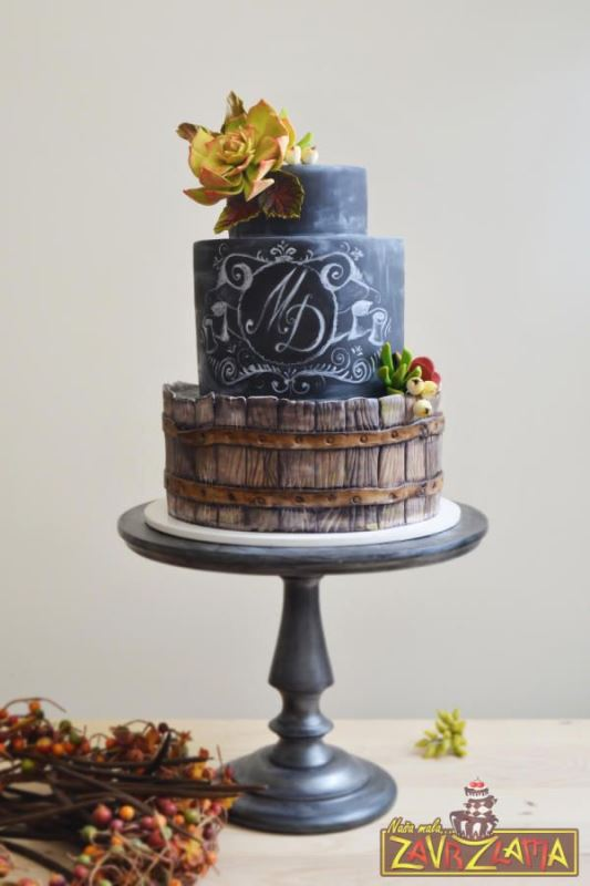 Picture Of the hottest 2015 wedding trend 30 chalkboard wedding cakes  20