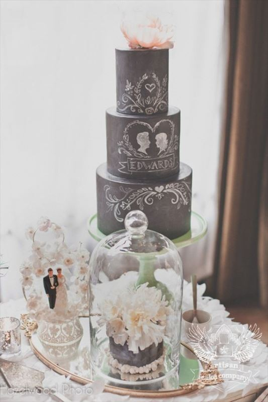 Picture Of the hottest 2015 wedding trend 30 chalkboard wedding cakes  22