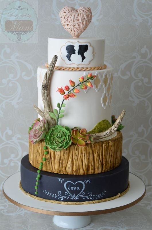Picture Of the hottest 2015 wedding trend 30 chalkboard wedding cakes  24