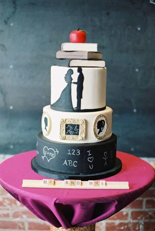 Picture Of the hottest 2015 wedding trend 30 chalkboard wedding cakes  26