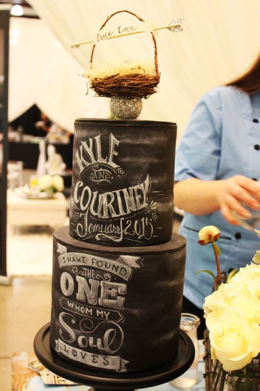 Picture Of the hottest 2015 wedding trend 30 chalkboard wedding cakes  28