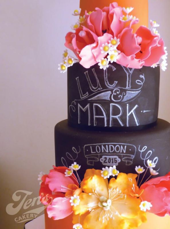 Picture Of the hottest 2015 wedding trend 30 chalkboard wedding cakes  3