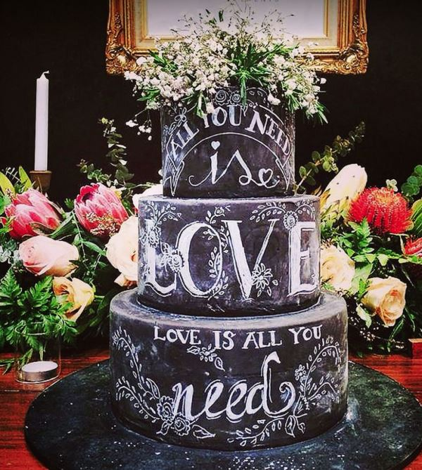 Picture Of the hottest 2015 wedding trend 30 chalkboard wedding cakes  30