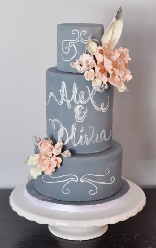 Picture Of the hottest 2015 wedding trend 30 chalkboard wedding cakes  4