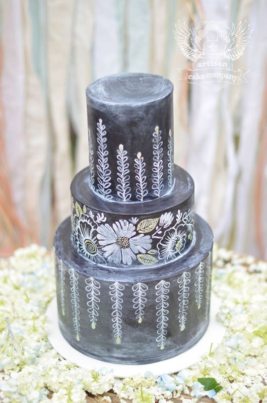 Picture Of the hottest 2015 wedding trend 30 chalkboard wedding cakes  6