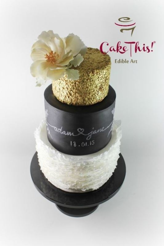 Picture Of the hottest 2015 wedding trend 30 chalkboard wedding cakes  8