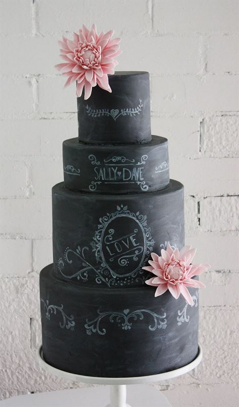 The Hottest 2015 Wedding Trend: 30 Chalkboard Wedding Cakes