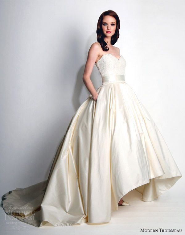Picture of the hottest 2015 wedding trend 31 fabulous high for High low ball gown wedding dress