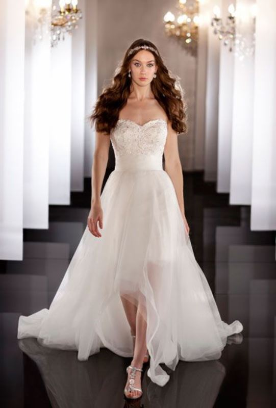 The Hottest 2015 Wedding Trend: 31 Fabulous High Low Wedding Dresses ...