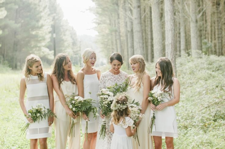 The Hottest 2015 Wedding Trend: 32 White Bridesmaids' Dresses ...
