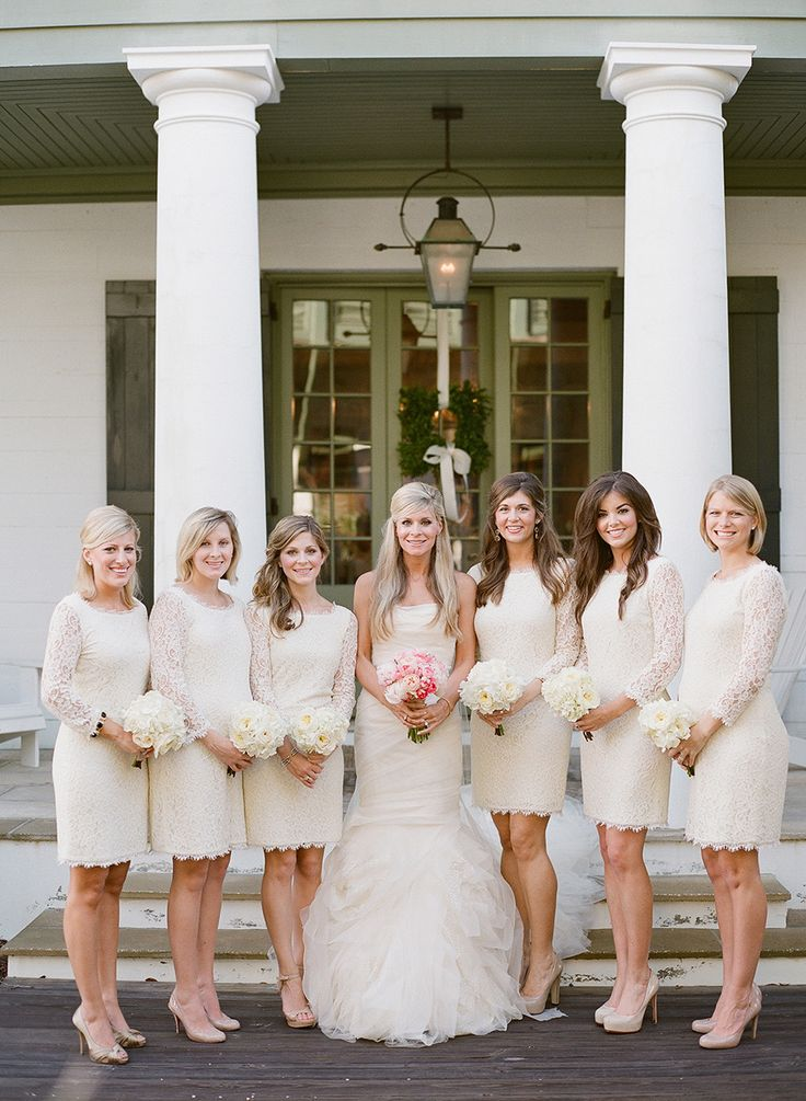 Of the hottest 2015 wedding trend white bridesmaids dresses 26