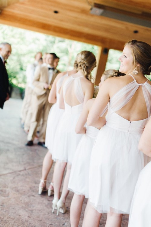 The Hottest 2015 Wedding Trend: 32 White Bridesmaids' Dresses