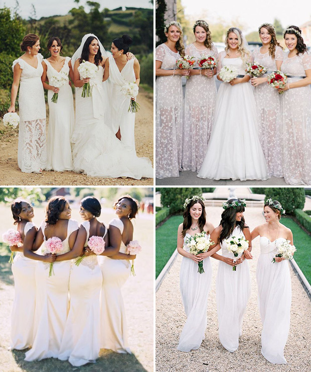 Of the hottest 2015 wedding trend white bridesmaids dresses 3