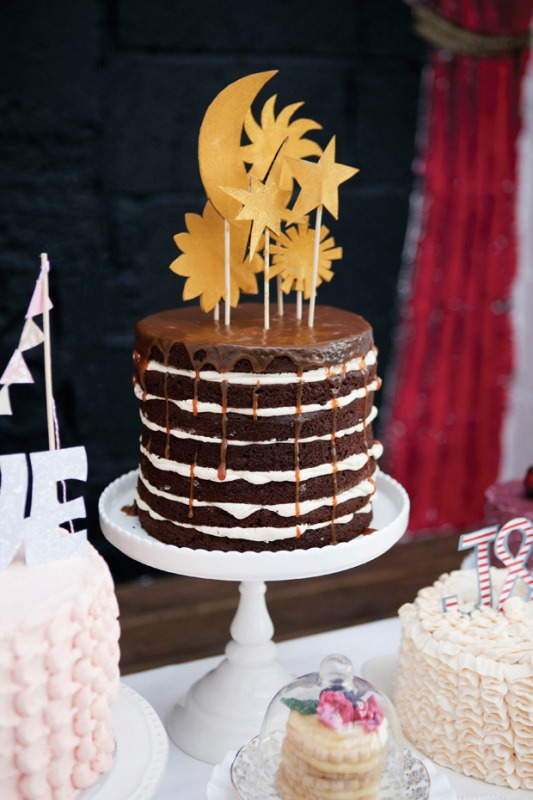 Picture Of the hottest wedding trend 17 sweet and fun color drip wedding cakes  10