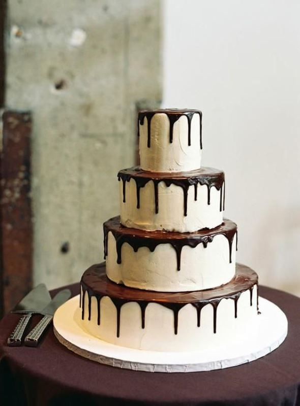 Picture Of the hottest wedding trend 17 sweet and fun color drip wedding cakes  4