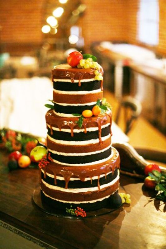 Picture Of the hottest wedding trend 17 sweet and fun color drip wedding cakes  6