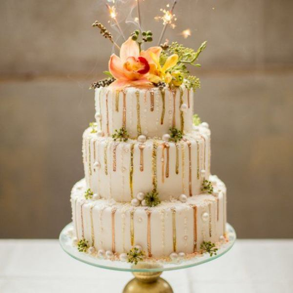 Picture Of the hottest wedding trend 17 sweet and fun color drip wedding cakes  9