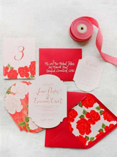 The Hottest Wedding Trend: 18 Pantone 2016 Fiesta Red Wedding Ideas