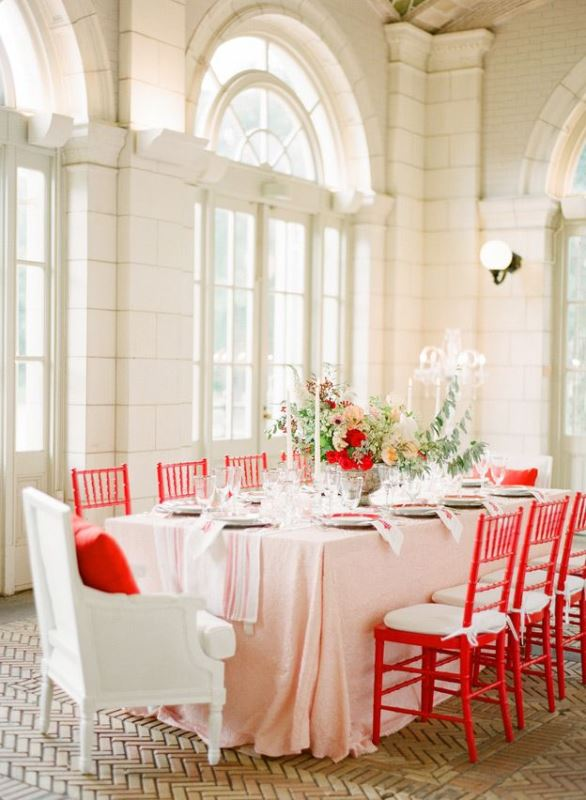 Picture Of the hottest wedding trend 18 pantone 2016 fiesta red wedding ideas  11