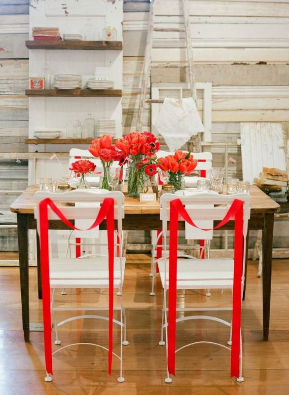 Picture Of the hottest wedding trend 18 pantone 2016 fiesta red wedding ideas  5
