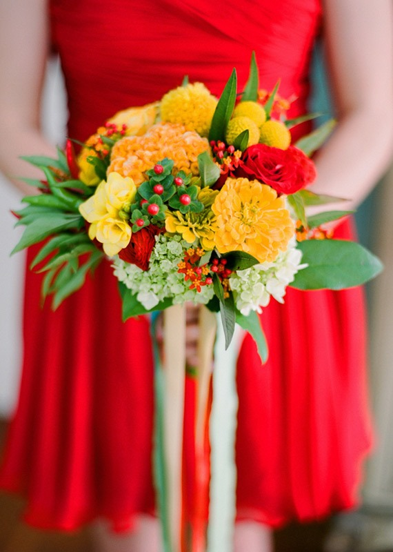Picture Of the hottest wedding trend 18 pantone 2016 fiesta red wedding ideas  6