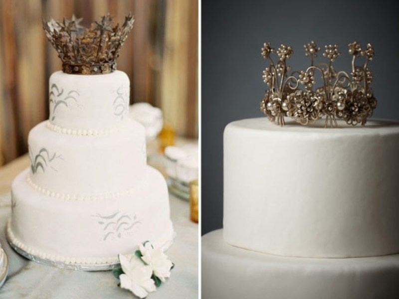 trending wedding cake toppers picture of the newest wedding trend crown cake toppers 21263