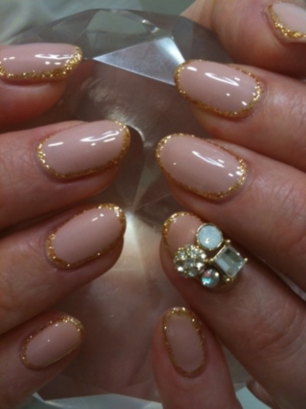 Incredible  Of The Newest Wedding Trend: The Ring Finger Nails Decor » Photo 14 600 x 800 · 96 kB · jpeg