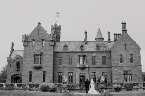 Timeless Black And Gold Castle Oliver Wedding