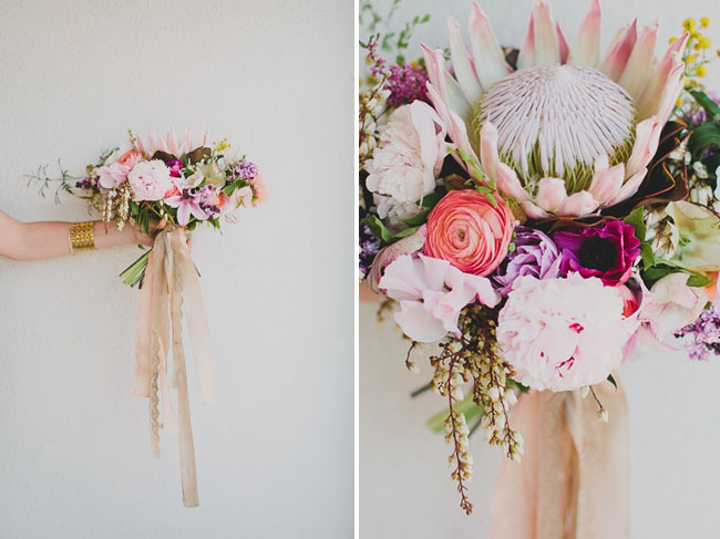 Picture Of trendy and creative diy king protea bouquet  4