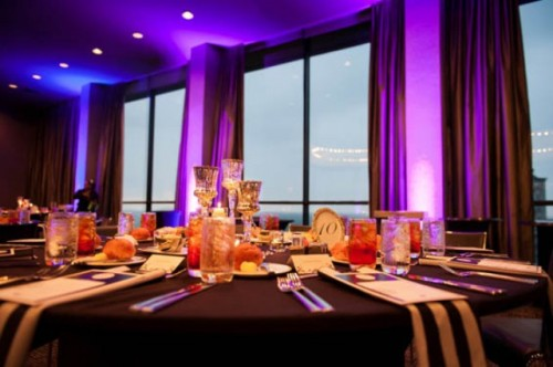 Trendy And Dramatic Wedding With Purple Touches