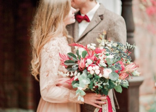 Trendy Marsala Fall Wedding Inspirational Shoot
