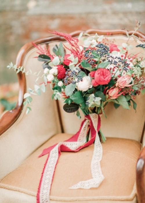 Trendy Marsala Fall Wedding Inspirational Shoot