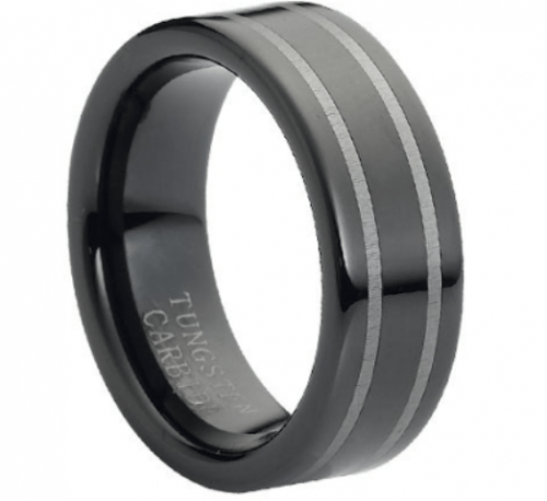 Stylish And Modern Tungsten Wedding Bands For Grooms