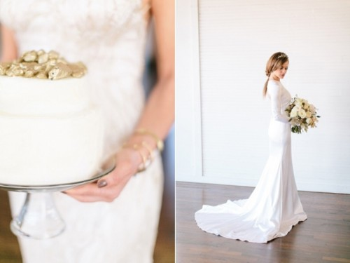 Ultra Modern Wedding Inspiration With Gray And Gold