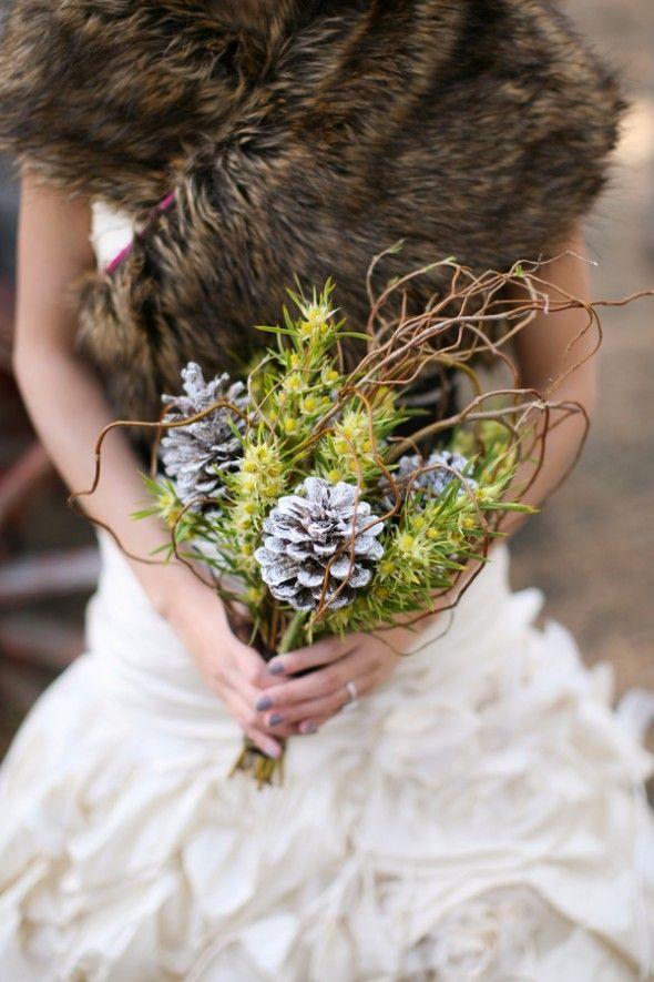 Unconventional Winter Wedding Bouquets