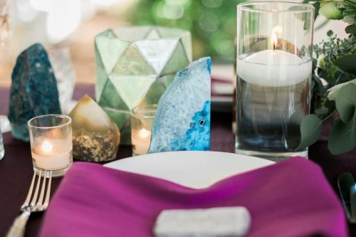 Unique And Colorful Agate Inspired Bridal Shower