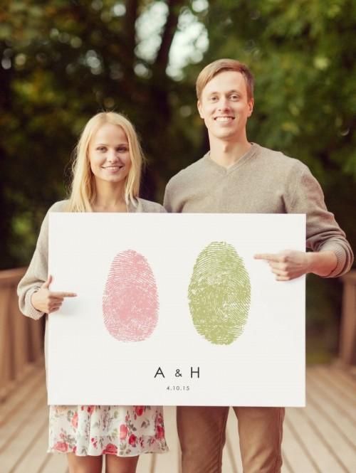 21 Unique And Creative Thumbprints Wedding Ideas