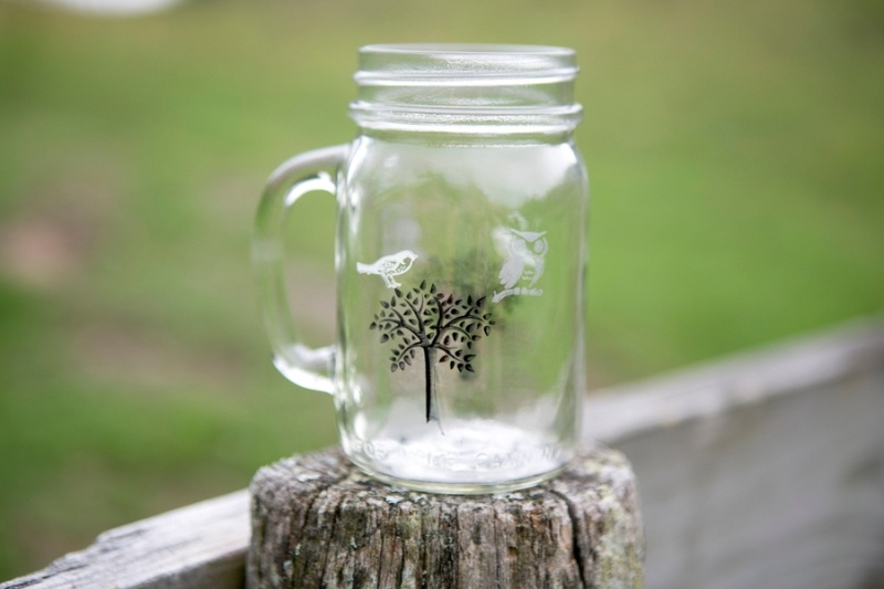 picture of unique nature inspired diy wedding